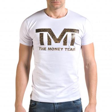 Tricou bărbați Glamsky alb il120216-63 2
