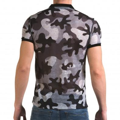 Tricou cu guler bărbați Lagos camuflaj il120216-22 3