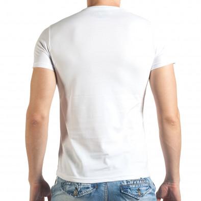 Tricou bărbați Just Relax alb il140416-32 3