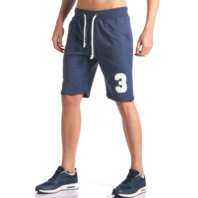Pantaloni scurți bărbați New Men albaștri it260416-24 4