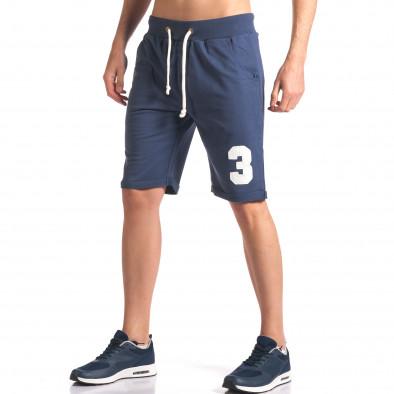 Pantaloni scurți bărbați New Men albaștri it260416-24 4