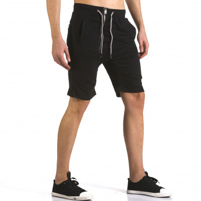 Pantaloni scurți bărbați Bread & Buttons negri it110316-82 4