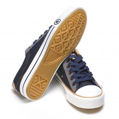 Pantofi sport bărbați Maideng albaștri 110416-3 4