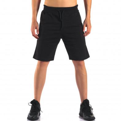 Pantaloni scurți bărbați Social Network negri it160616-11 2