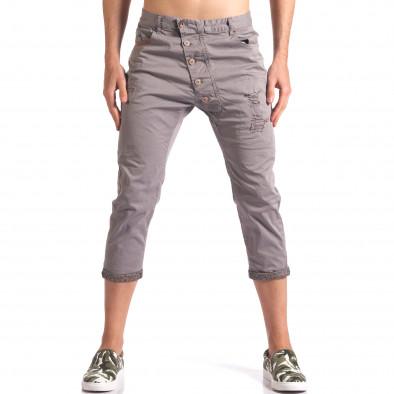 Pantaloni bărbați TMK gri it250416-27 2