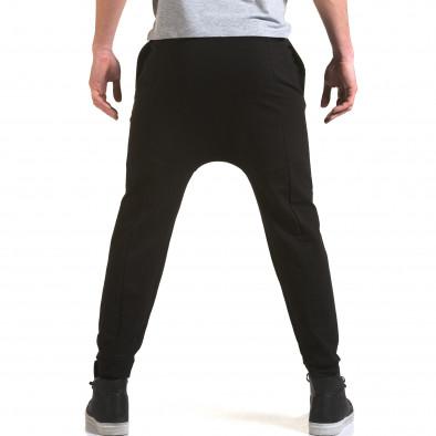 Pantaloni baggy bărbați FM negri it090216-62 3