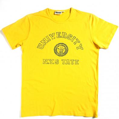 Tricou bărbați Marcus galben 070213-1 2