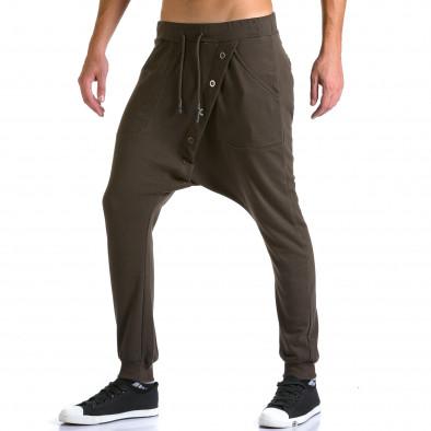 Pantaloni baggy bărbați Devil Slayer maro ca260815-25 4