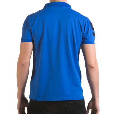 Tricou cu guler bărbați Franklin albastru il170216-21 3