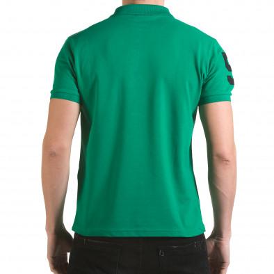 Tricou cu guler bărbați Franklin verde il170216-26 3