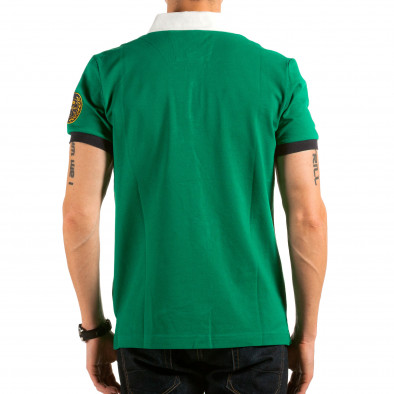 Tricou cu guler bărbați Ar-Ma verde il180215-120 3