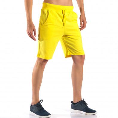 Pantaloni scurți bărbați Social Network galbeni it160616-10 4