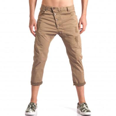 Pantaloni bărbați TMK maro it250416-28 2