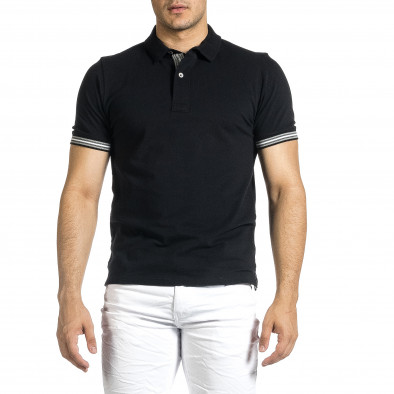 Tricou cu guler bărbați Baker's negru it150521-18 3