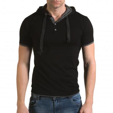 Tricou bărbați Lagos negru il120216-60 2