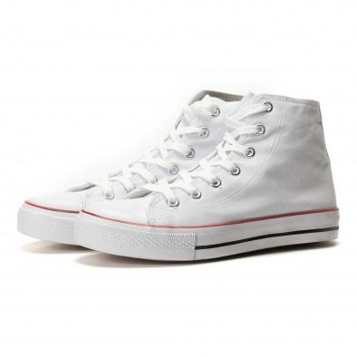 Teniși înalți albi model clasic pentru bărbați it260117-44 3