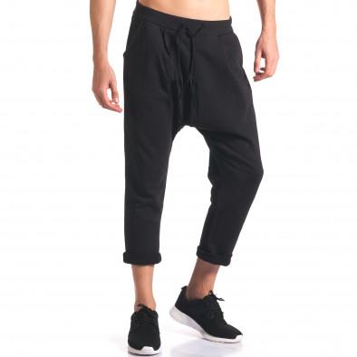 Pantaloni baggy bărbați FCSM negri it260416-35 4