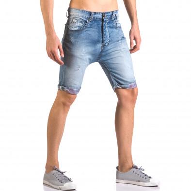 Blugi scurți bărbați Always Jeans albaștri ca050416-69 4