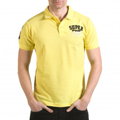 Tricou cu guler bărbați Franklin galben il170216-22 2