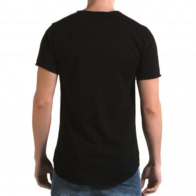 Tricou bărbați Man negru it090216-73 3