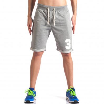 Pantaloni scurți bărbați New Men gri it260416-23 2
