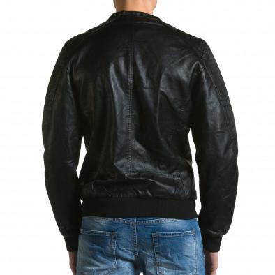 Geacă din piele ecologica bărbați Forex neagră ca190116-36 3