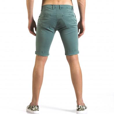 Pantaloni scurți bărbați Bruno Leoni verzi it110316-47 3