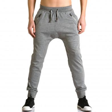 Pantaloni baggy bărbați Furia Rossa gri ca190116-17 2