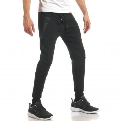 Pantaloni bărbați ChRoy negru it140317-68 4