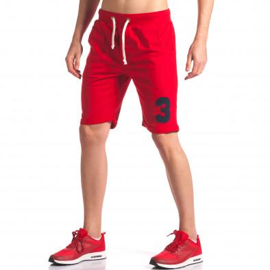 Pantaloni scurți bărbați New Men roșii it260416-22 4