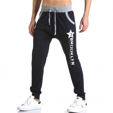 Pantaloni baggy bărbați Realman albaștri it110316-9 4
