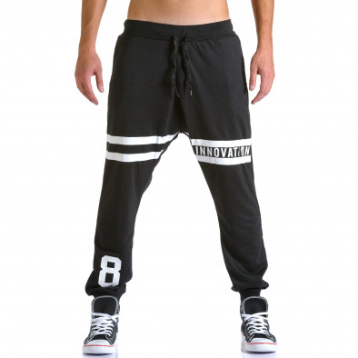 Pantaloni baggy bărbați Eadae Wear negri ca260815-30 2