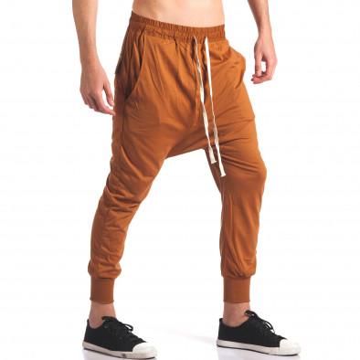 Pantaloni baggy bărbați Hancity maro it250416-5 4