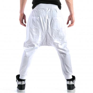 Pantaloni baggy bărbați Bruno Leoni albi ca110215-15 3