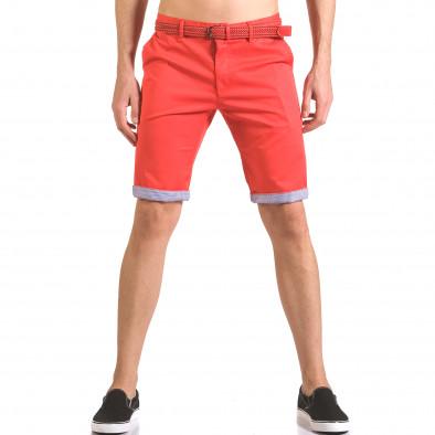 Pantaloni scurți bărbați Baci & Dolce roșii ca050416-55 2
