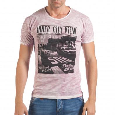 Tricou bărbați Lagos roz il060616-41 2