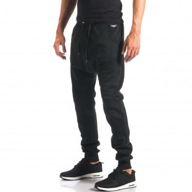 Pantaloni baggy bărbați Marshall negri it160816-20 4