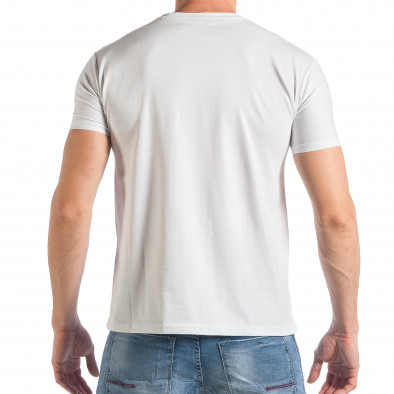 Tricou bărbați Frank Martin alb tsf290318-9 3
