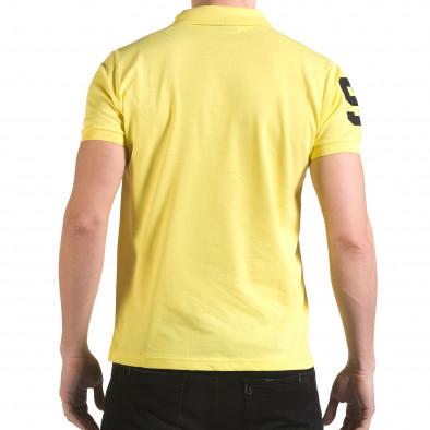 Tricou cu guler bărbați Franklin galben il170216-22 3