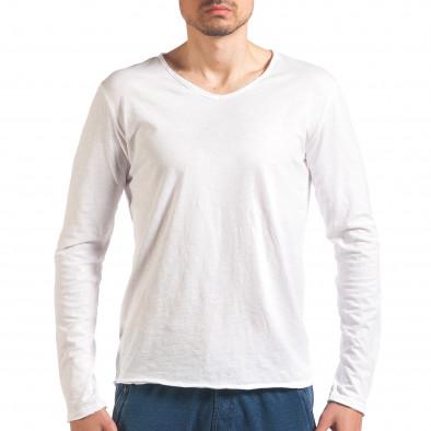 Bluză bărbați Man albă it260416-51 2