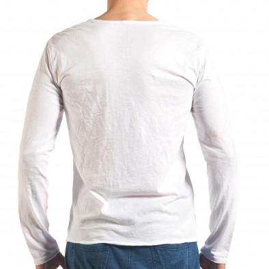Bluză bărbați Man albă it260416-51 3