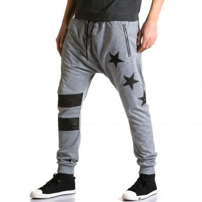Pantaloni baggy bărbați Jack Davis gri ca190116-20 4