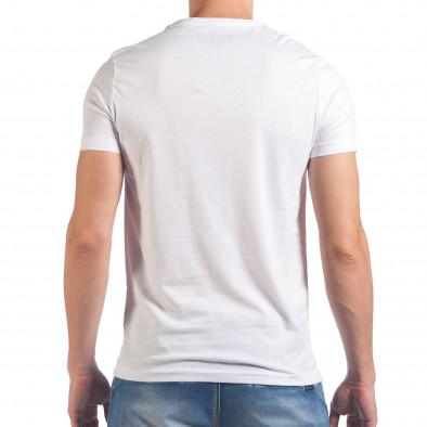 Tricou bărbați Just Relax alb il060616-14 3