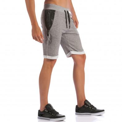 Pantaloni scurți bărbați Belman gri ca100615-19 4