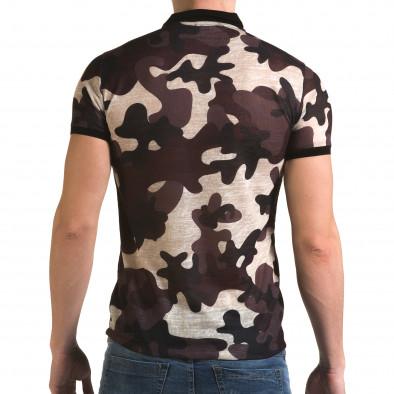 Tricou cu guler bărbați Lagos camuflaj il120216-21 3