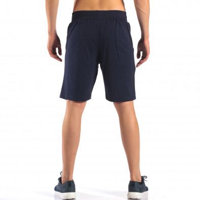 Pantaloni scurți bărbați Social Network albaștri it160616-9 3