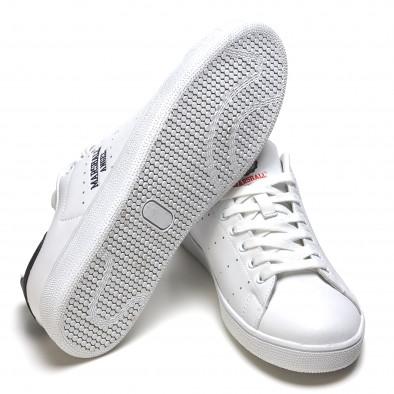 Pantofi sport bărbați Marshall albi it110316-100 4