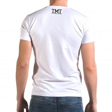 Tricou bărbați Glamsky alb il120216-63 3