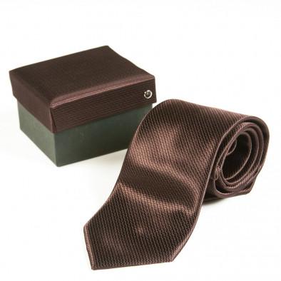 Cravată Fashionmix maro bărbați 080213-19 2