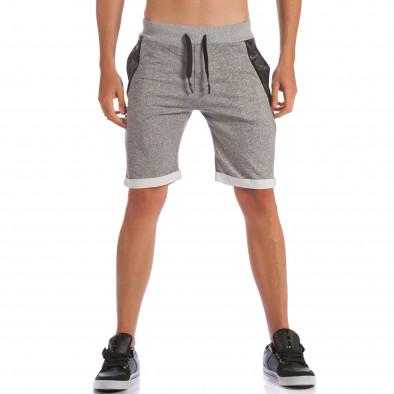 Pantaloni scurți bărbați Belman gri ca100615-19 2